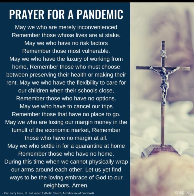 Pandemic Prayer